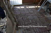More on the Brick Floor!  (A Garden Shed Update)