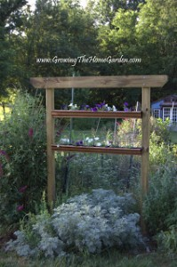 Planting a Vertical Garden Arbor with Gutters (Part 3)