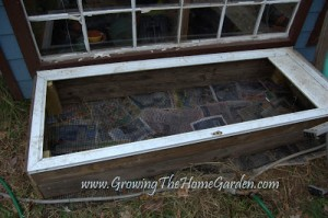 Reusing Materials for a Cold Frame