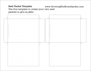 Free Seed Packet Template (Basic)