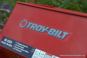 Troy-Bilt CS4325 Wood Chipper Review (and Giveaway!)