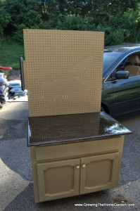 Converting a Cabinet for a Garden and Garage Workspace