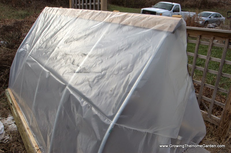 Small Garden Hoop House For Winter Vegetable Growing