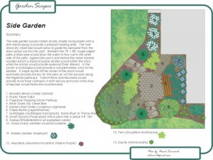 Landscape Plan: Side Garden