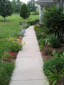 Focusing on the Front Sidewalk Garden