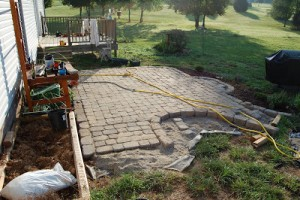Cobblestone Patio Project Update 4