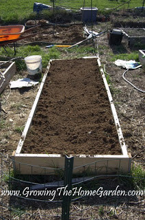 raised bed vegetable garden with lumber