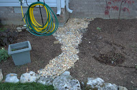 How to Make a Dry Creek Bed for Downspout Drainage