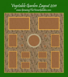 Vegetable Garden Layout with Raised Beds for 2011
