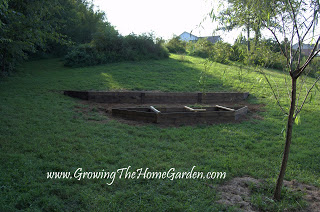 raised bed on a slope - terraced garden