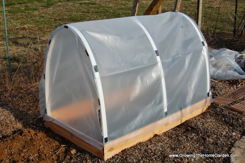 Build a mini hoop house to get an early start on the for Building a house where to start