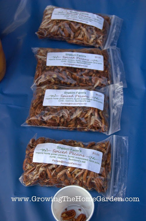 spiced pecan samples