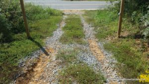 A Temporary Way to Fix a Gravel Driveway Drainage Issue