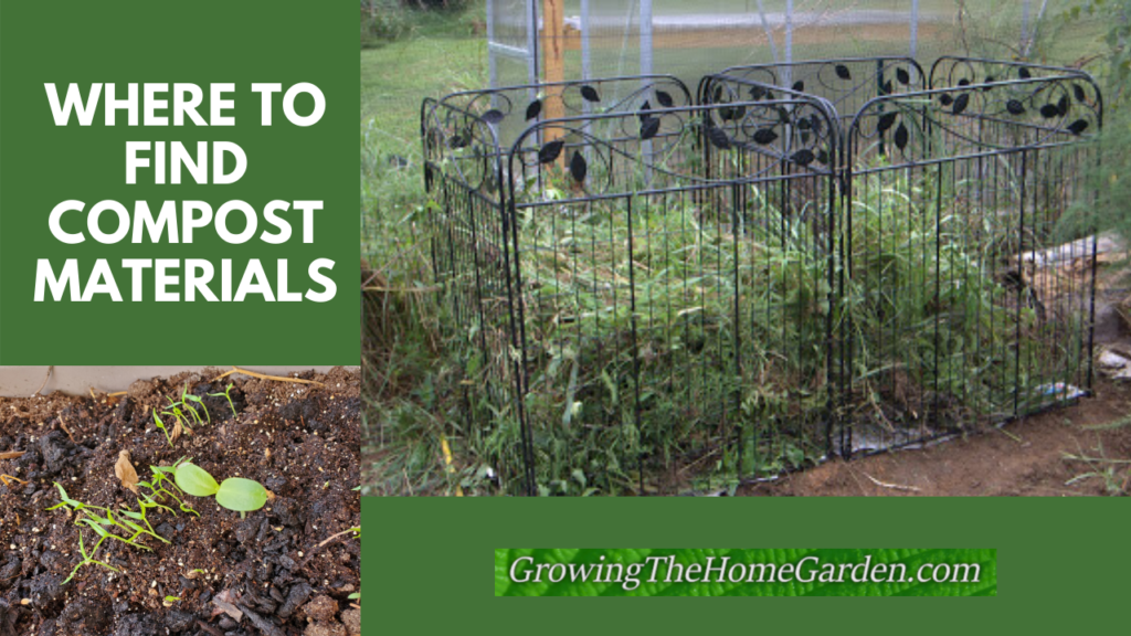Where to Find Compost Materials